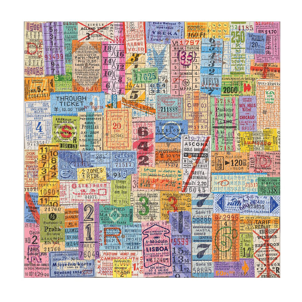 Vintage Travel Tickets 500 Piece Puzzle