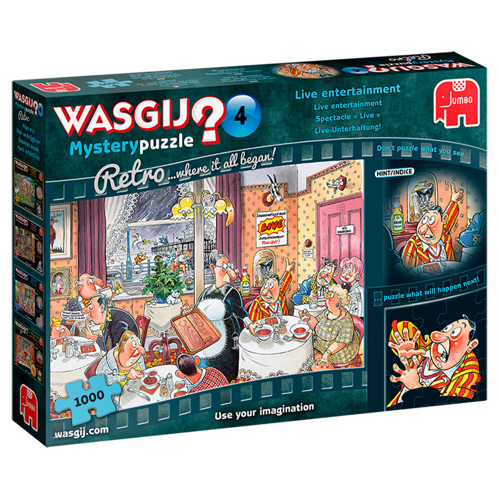 Retro Wasgij Mystery 4 Live Entertainment 1000 piece puzzle