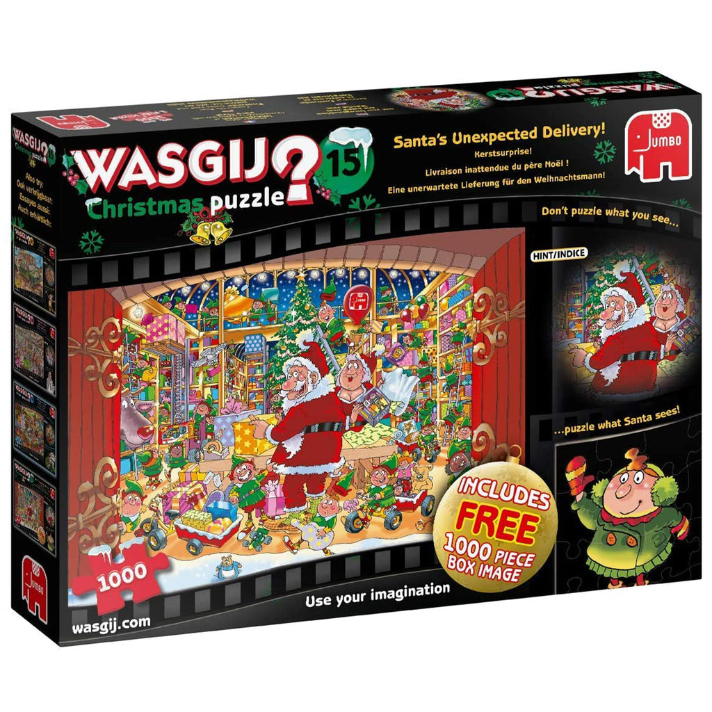 Wasgij Christmas 15 Santa's Unexpected Delivery - 2 x 1000 Piece Puzzle