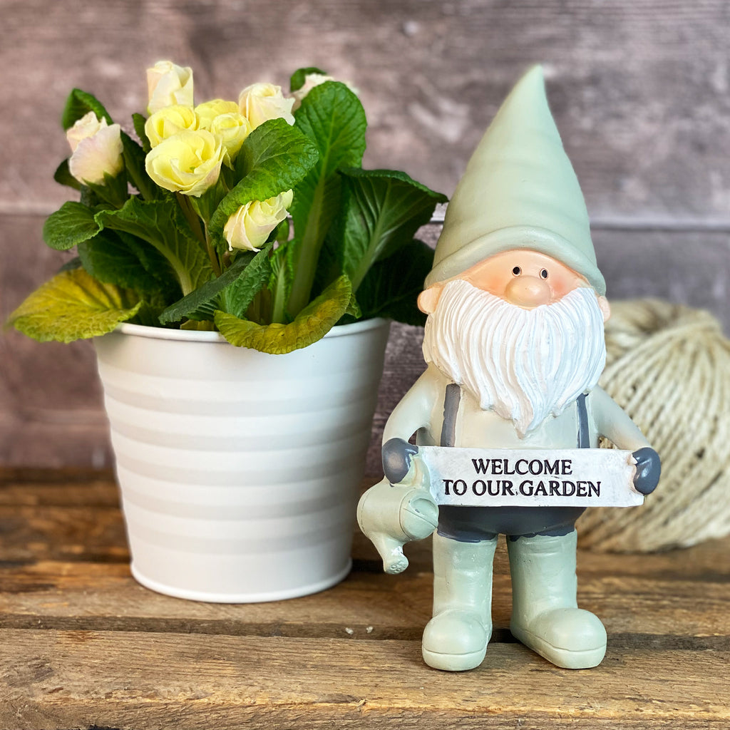 Potting Shed Gnome - Welcome