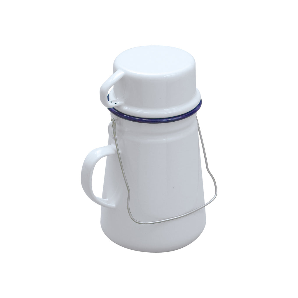 White Enamel Tea Can