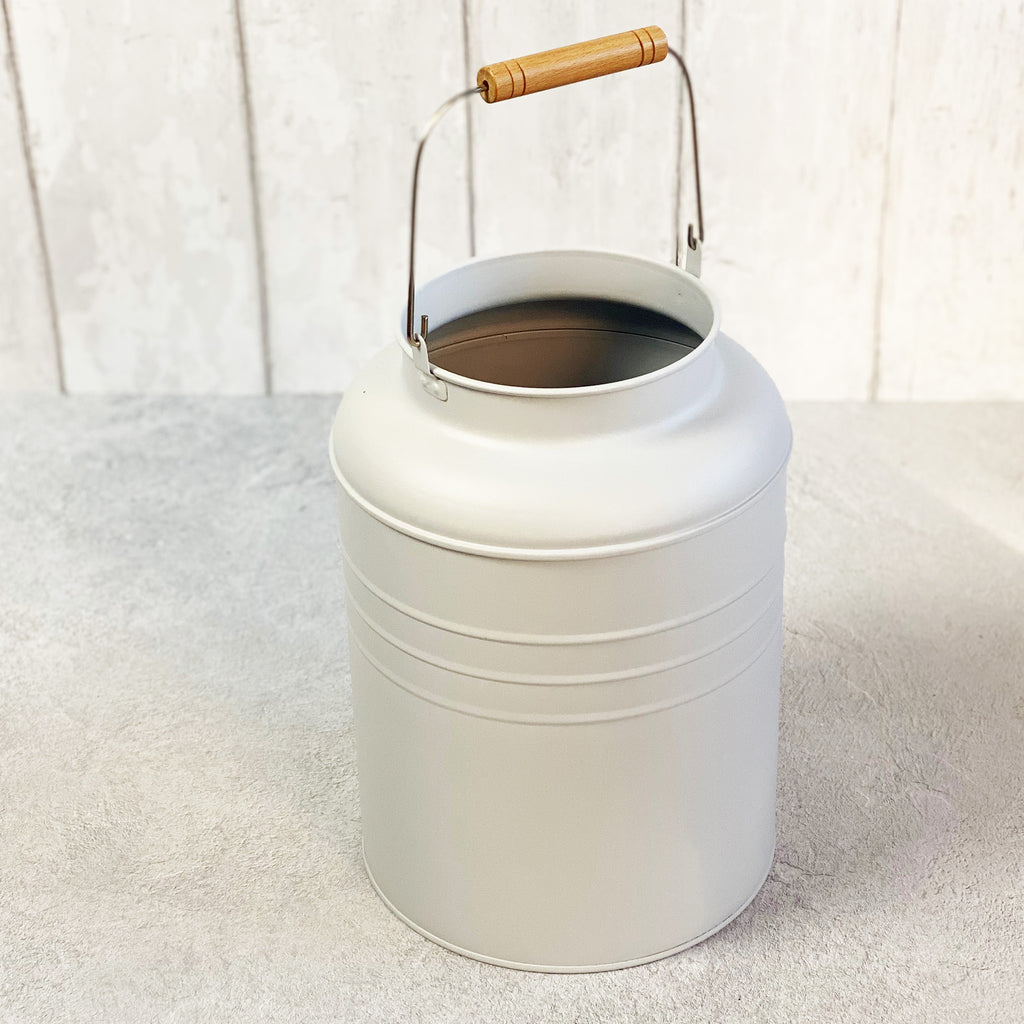White Milk Can Planter