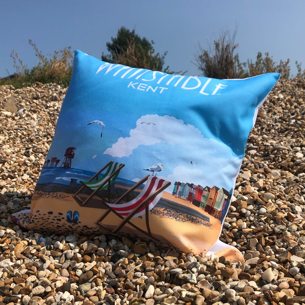 Retro Whitstable Cushion