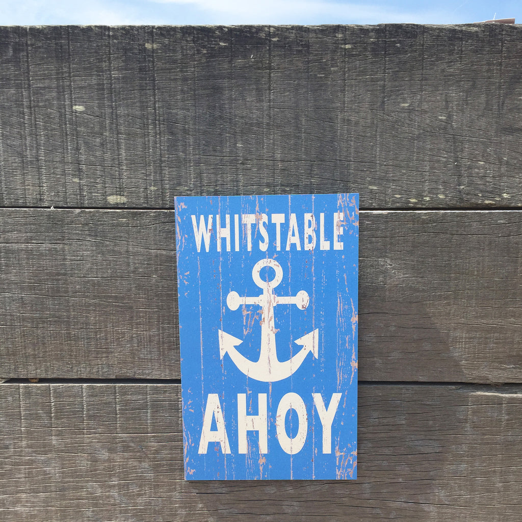 Whitstable Ahoy Sign