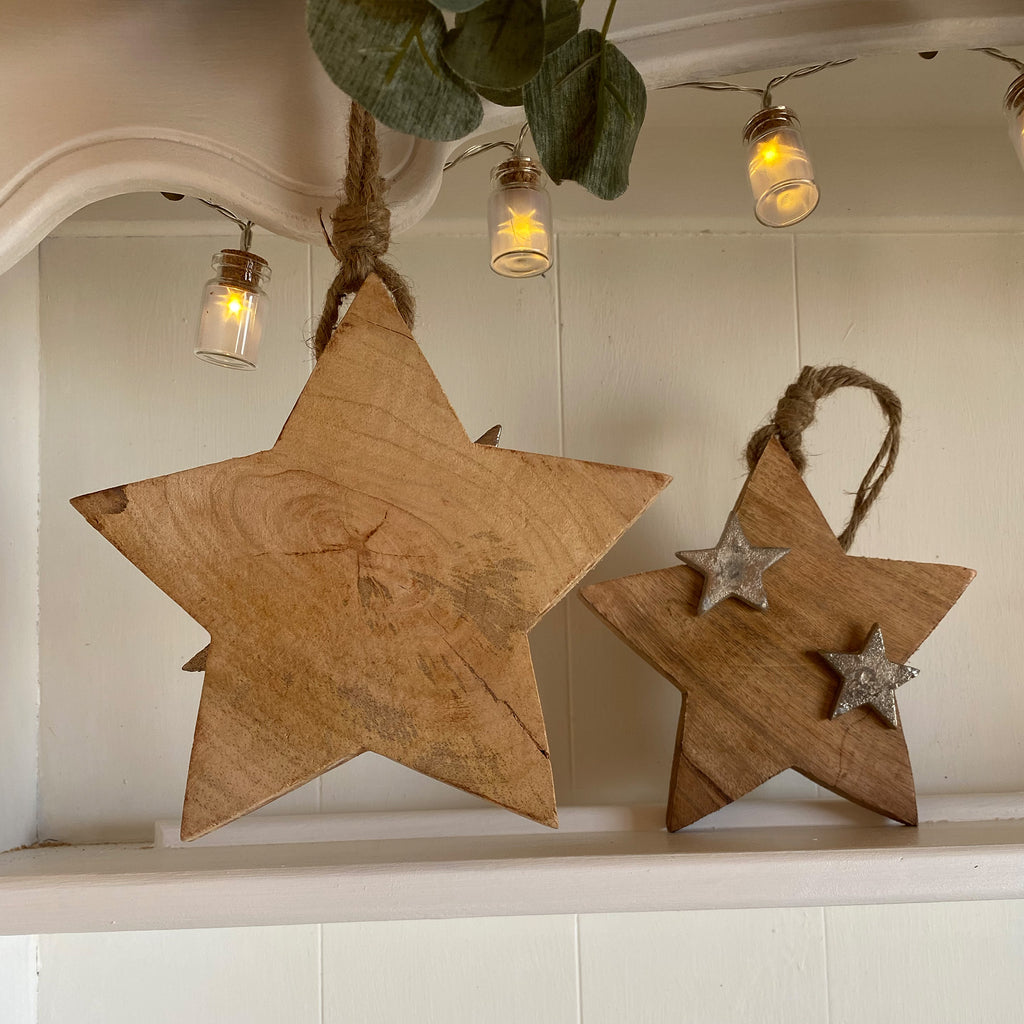 Hanging Wooden Star