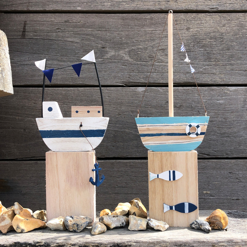 Wooden Boat Decoration