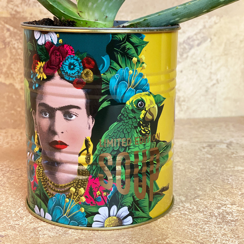Frida Kahlo Medium Yellow Storage Tin