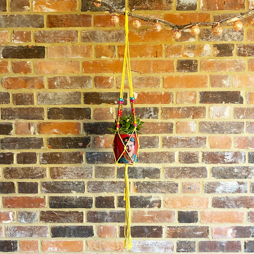 Yellow Macrame Hanger