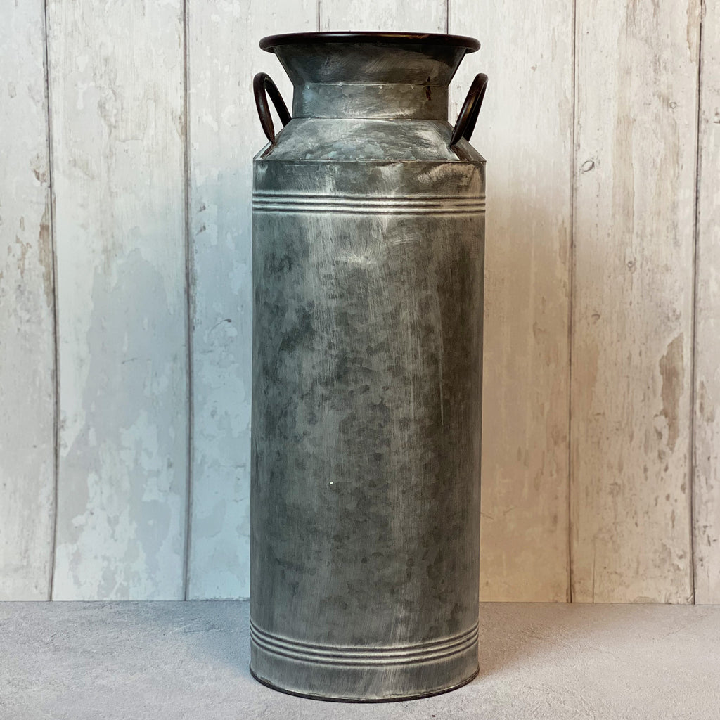Zinc Milk Churn Planter