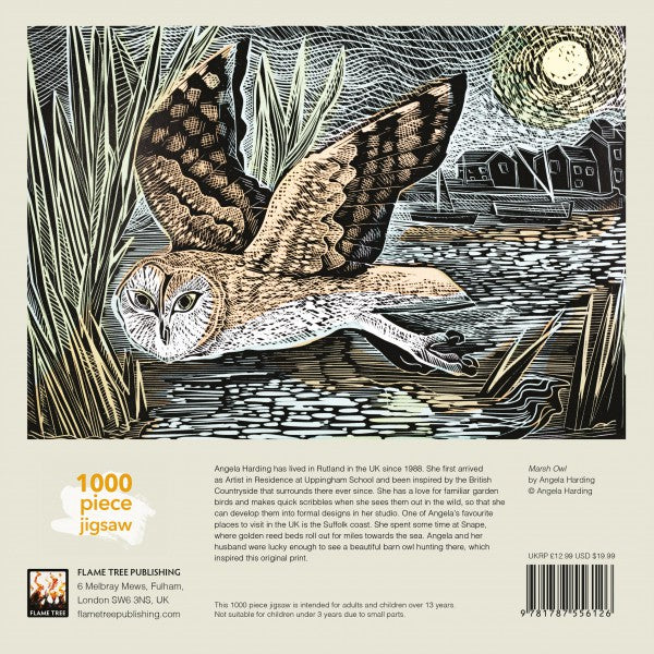 Marsh Owl, Angela Harding - 1000 Piece Jigsaw