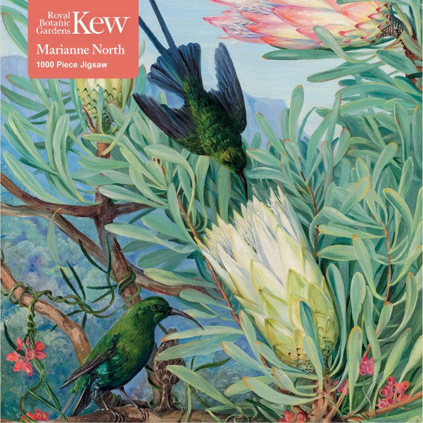 Honeyflowers and Honeysuckers, Marianne North - 1000 Piece Jigsaw