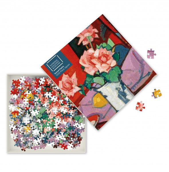 Pink Roses, Chinese Vase 1000 Puzzle