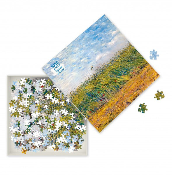 Wheat Field With A Lark, Van Gogh - 1000 Piece Puzzle