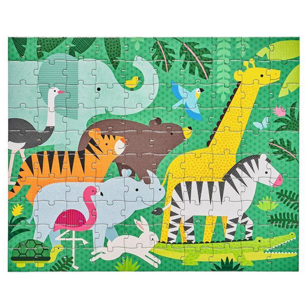 Animal Menagerie Two Sided On The Go Puzzle 100 Piece