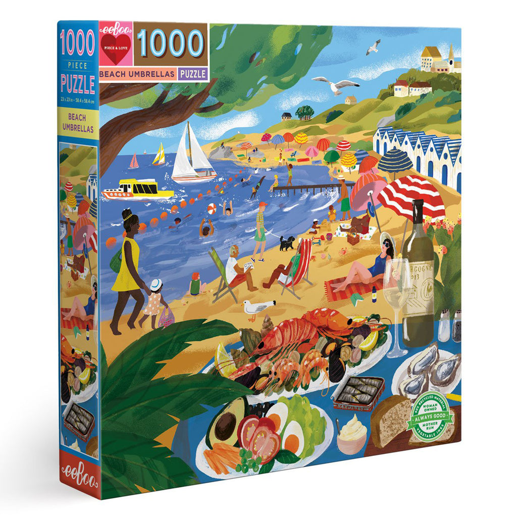 Beach Umbrellas 1000 Piece Eeboo Puzzle