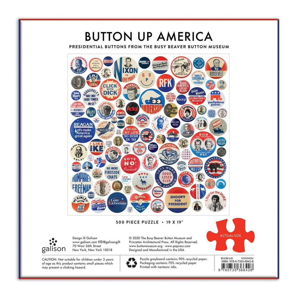 Button Up America - 500 Piece Puzzle