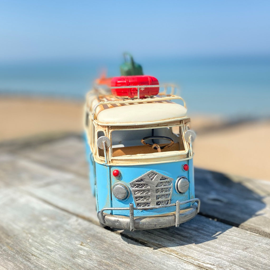 Blue Camper Van Ornament