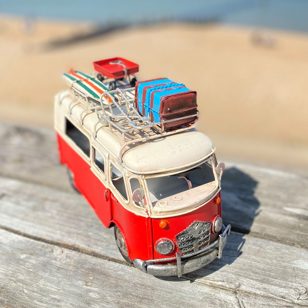 Red Camper Van Ornament