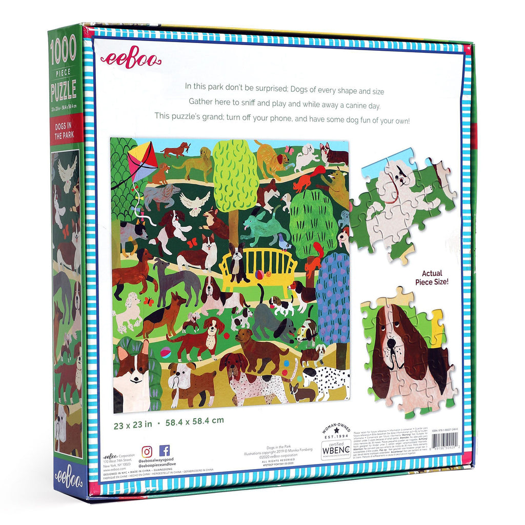 Dogs In The Park 1000 Piece Eeboo Puzzle