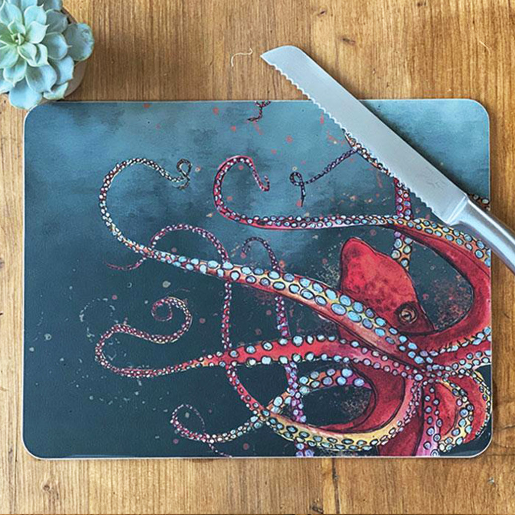 Red Octopus Centre Table Mat
