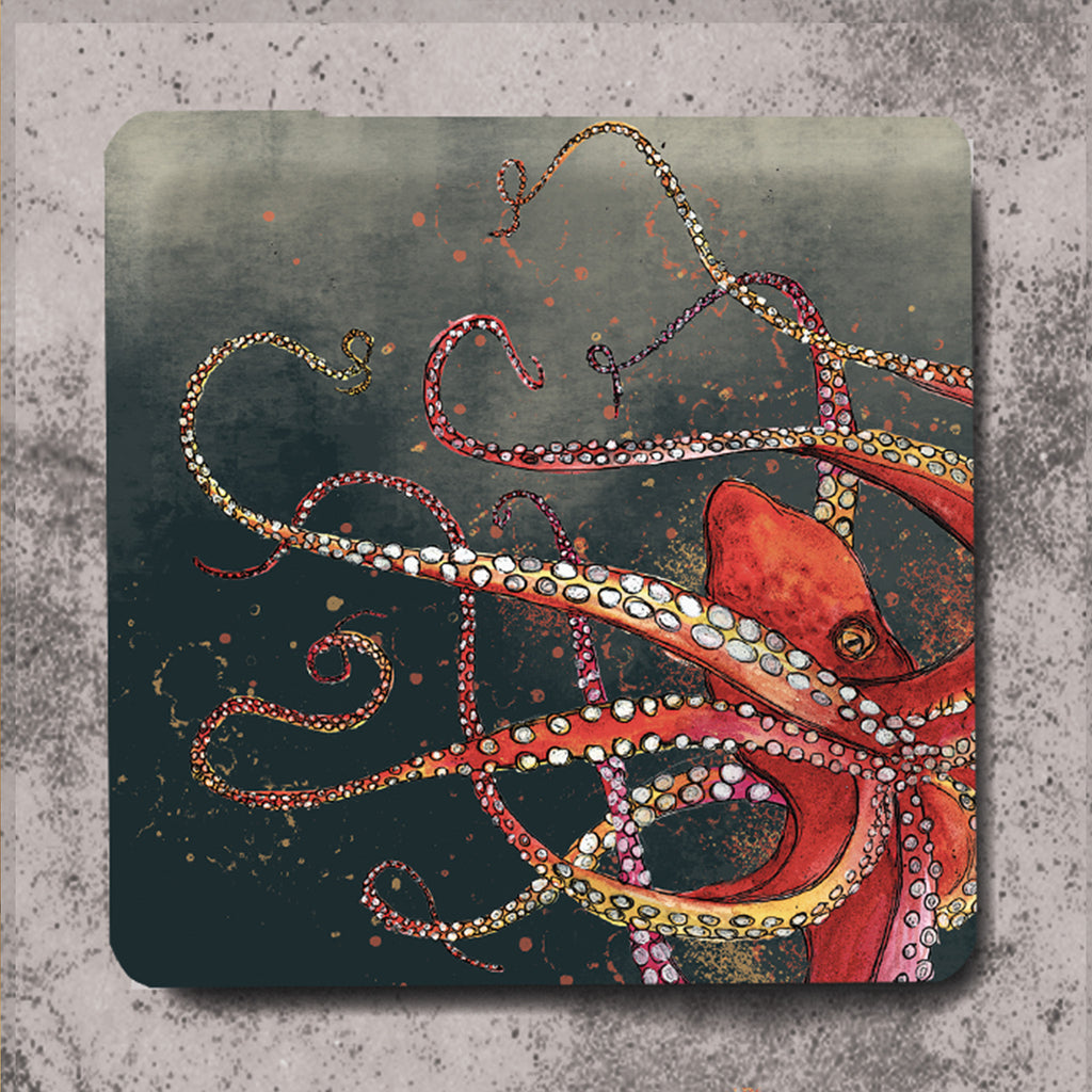 Red Octopus Placemat