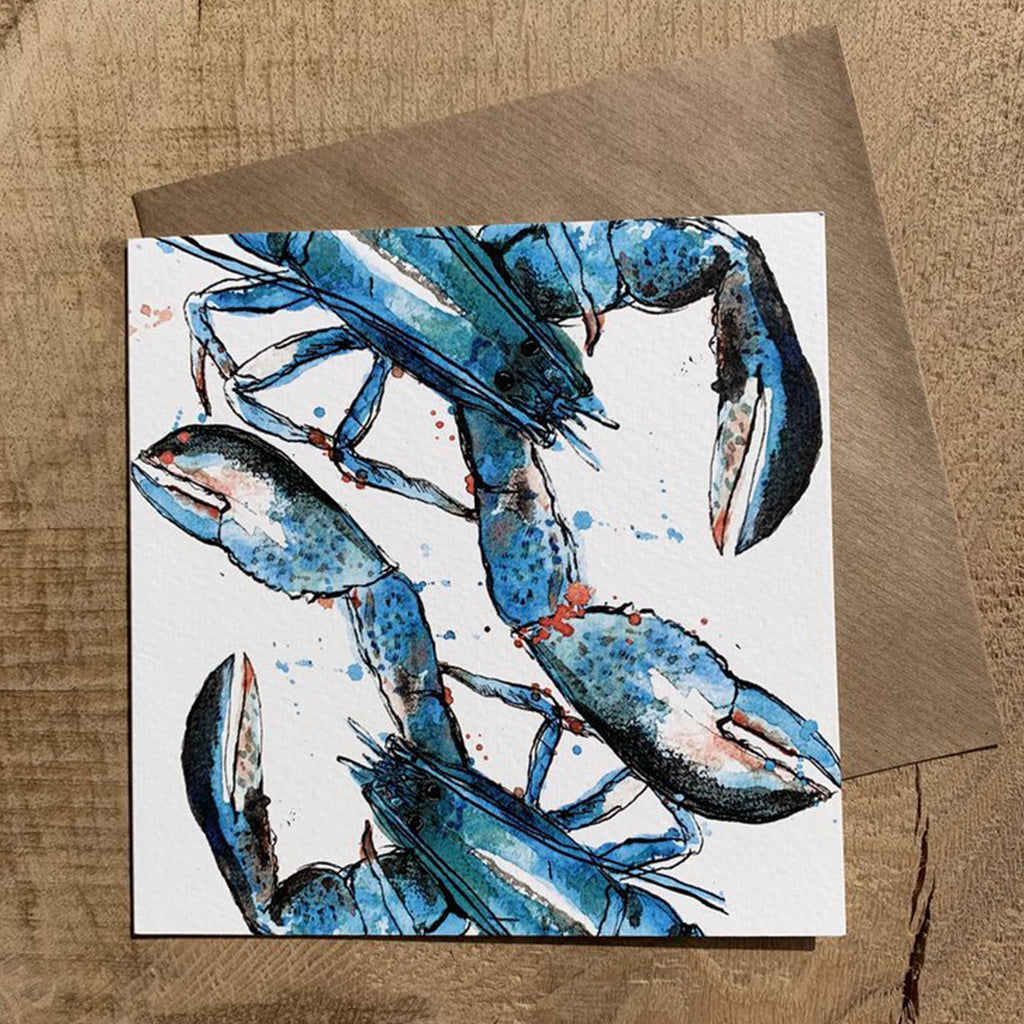 Greeting Card Blue Lobster