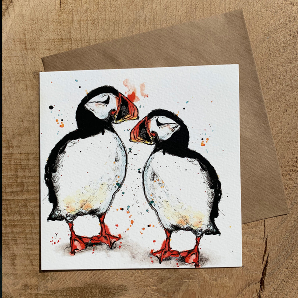 Greeting Card Puffin