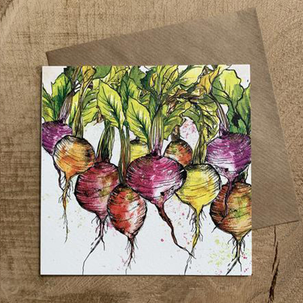 Greeting Card Radish