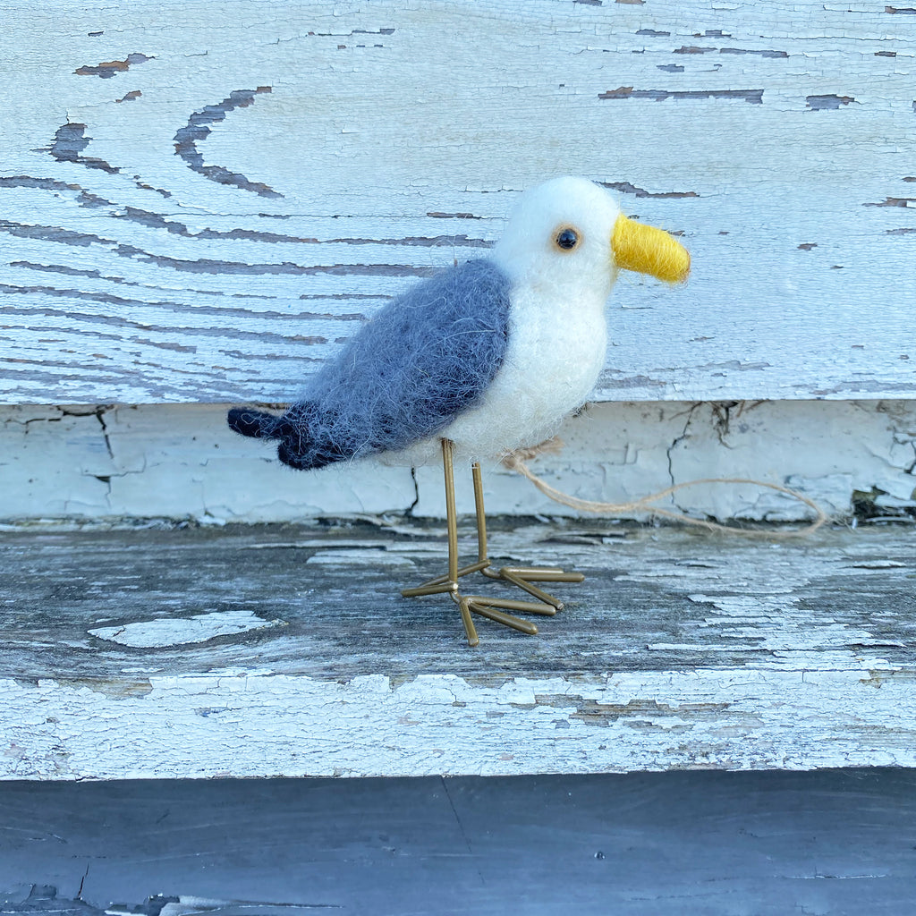 Pure Wool Seagull Decoration