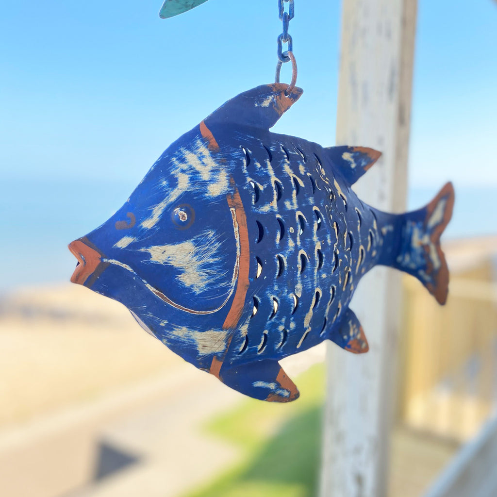 Large Deep Blue Fish Lantern