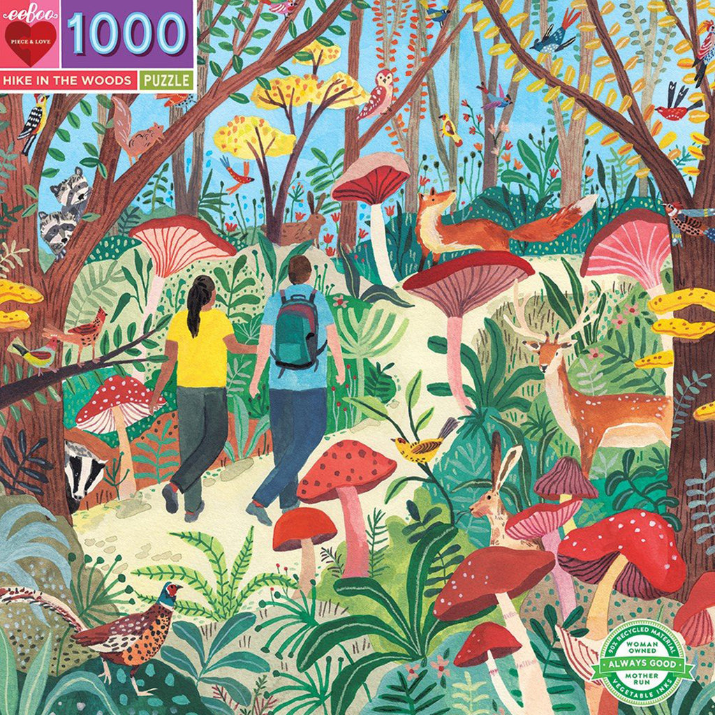 Hike In The Woods 1000 Piece Eeboo Puzzle