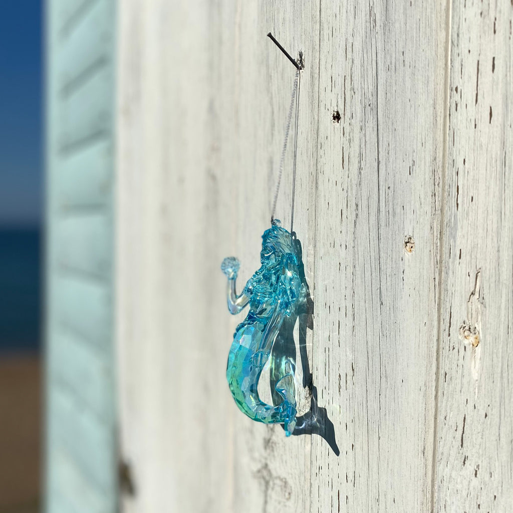 Iridescent Blue Mermaid Decoration