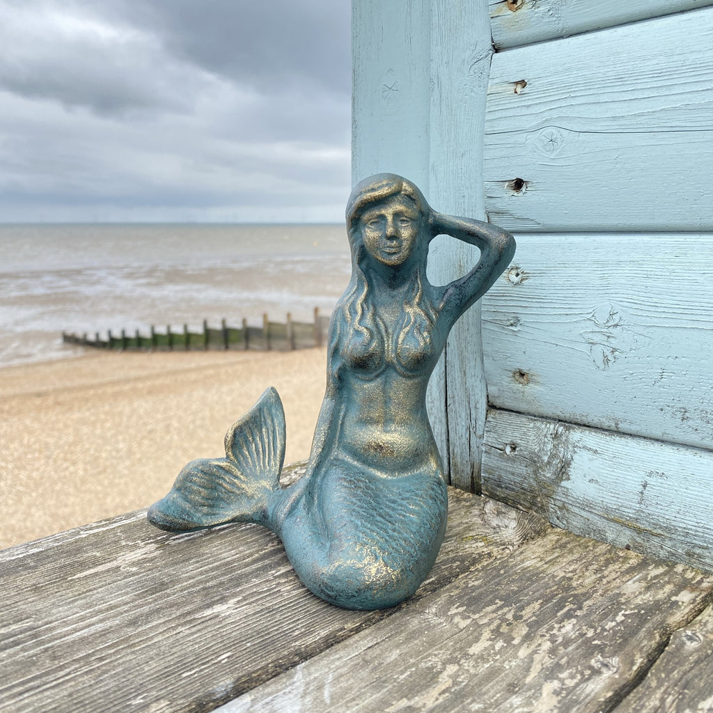 Metal Mermaid Posing