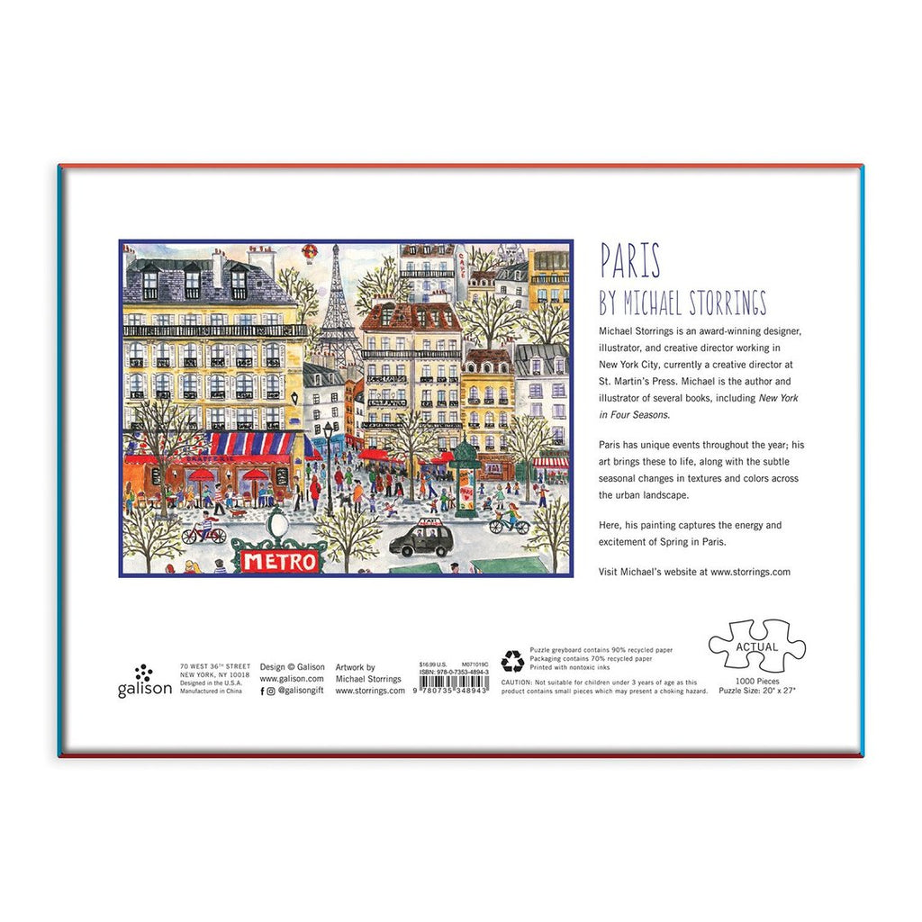 Michael Storrings Paris - 1000 Piece Puzzle