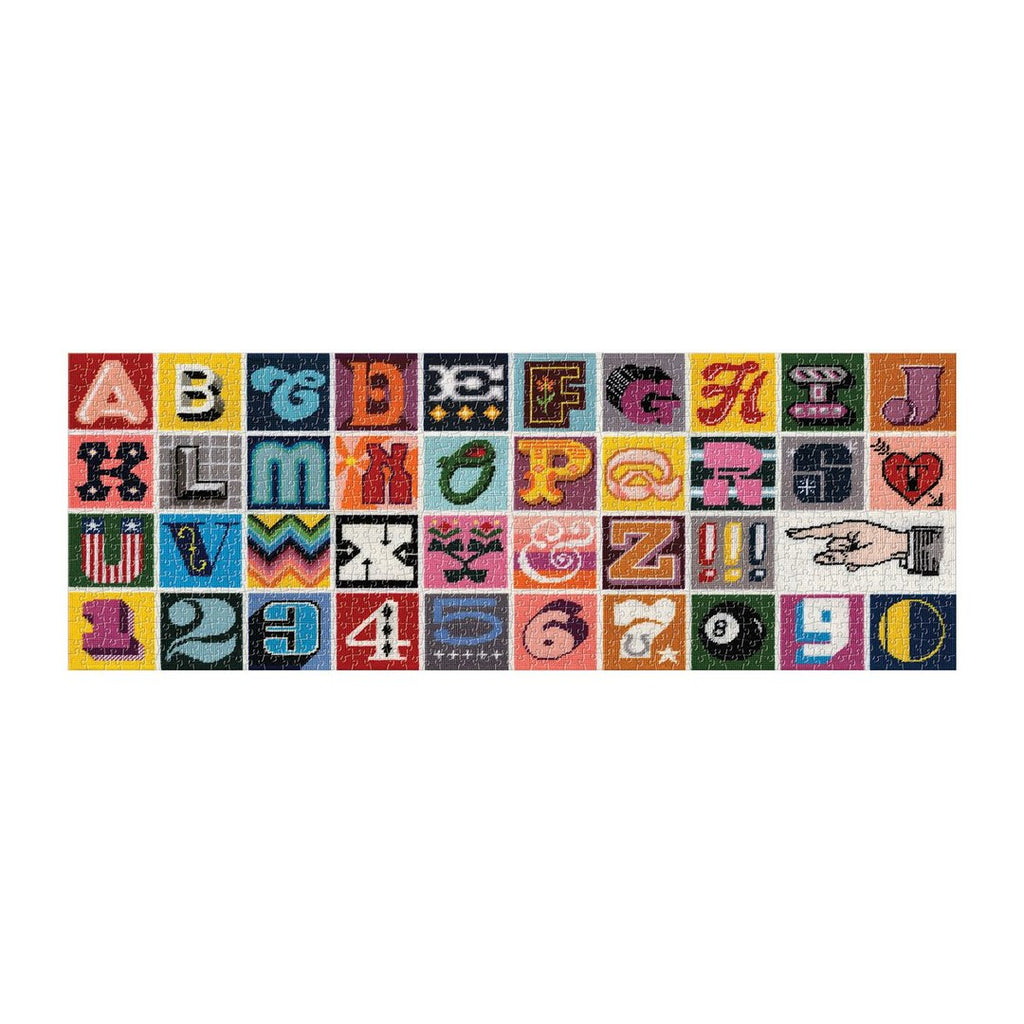 Needlepoint A to Z - 1000 Piece Panoramic Puzzle