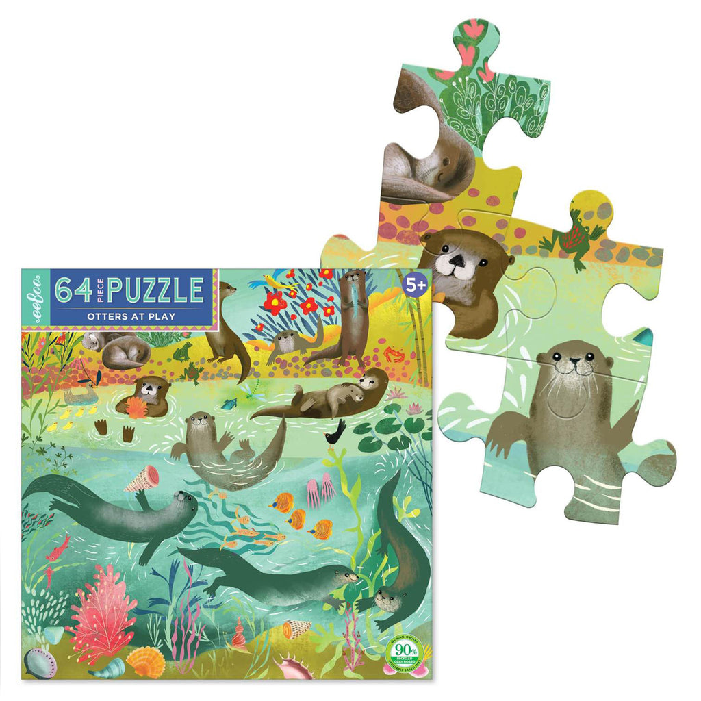 Otters At Play 64 Piece Eeboo Puzzle