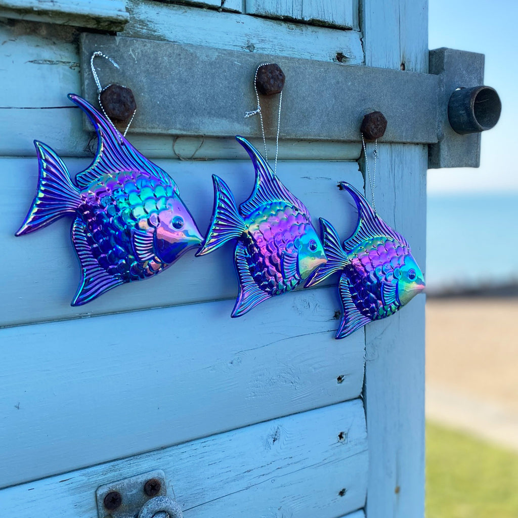 Iridescent Blue Fish Decoration