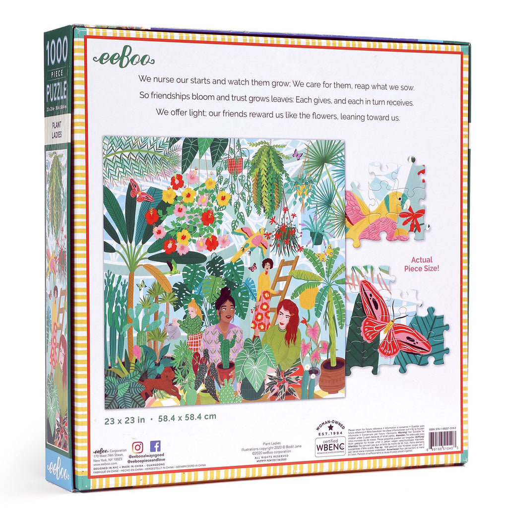 Plant Ladies 1000 Piece Eeboo Puzzle
