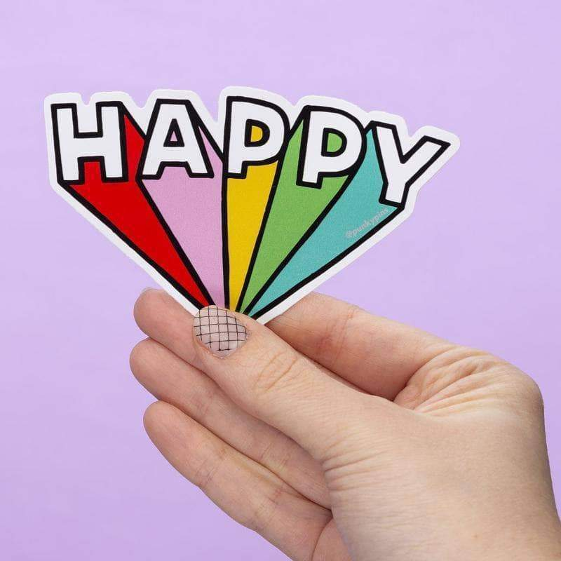 Happy Vinyl Sticker