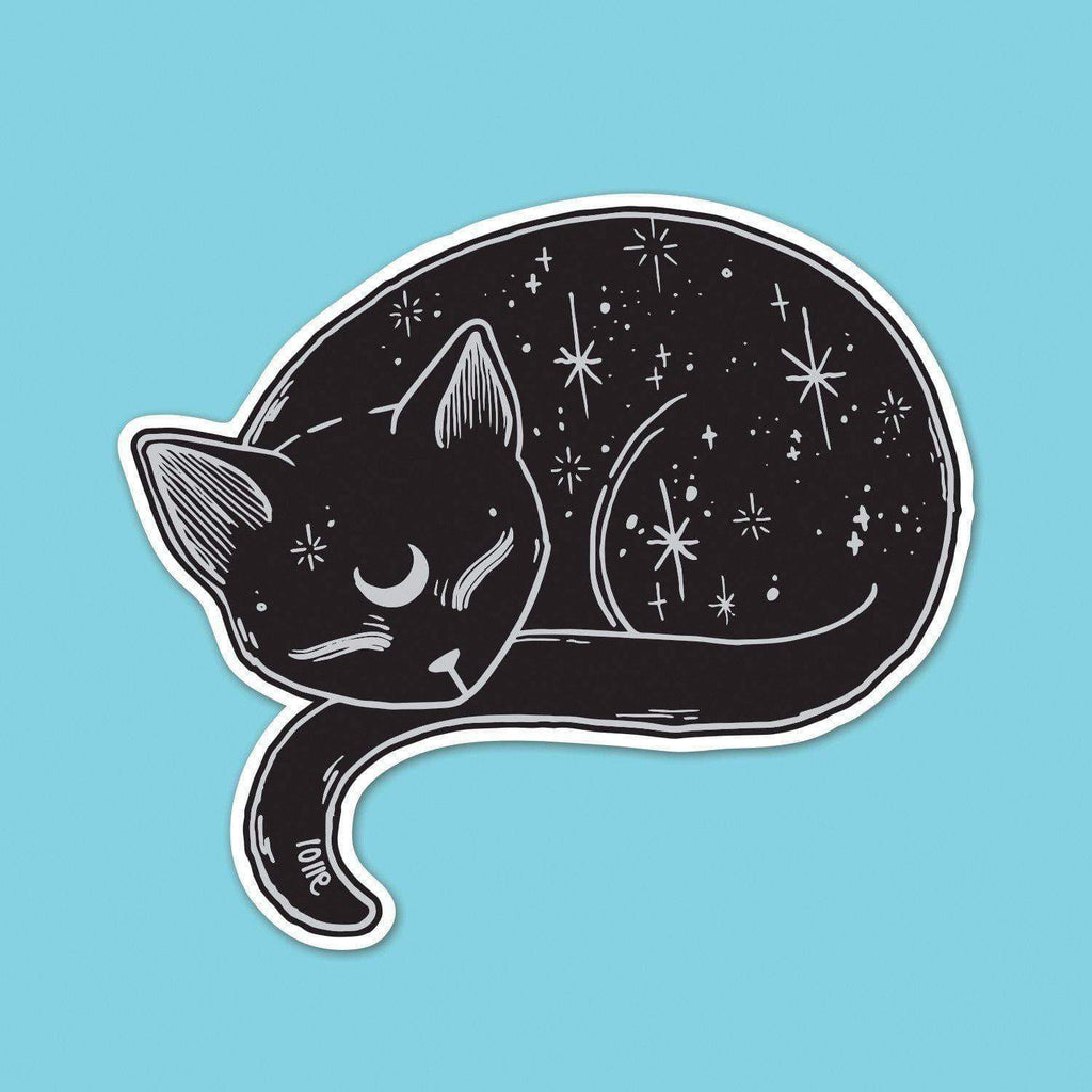 Mystical Cat Vinyl Sticker
