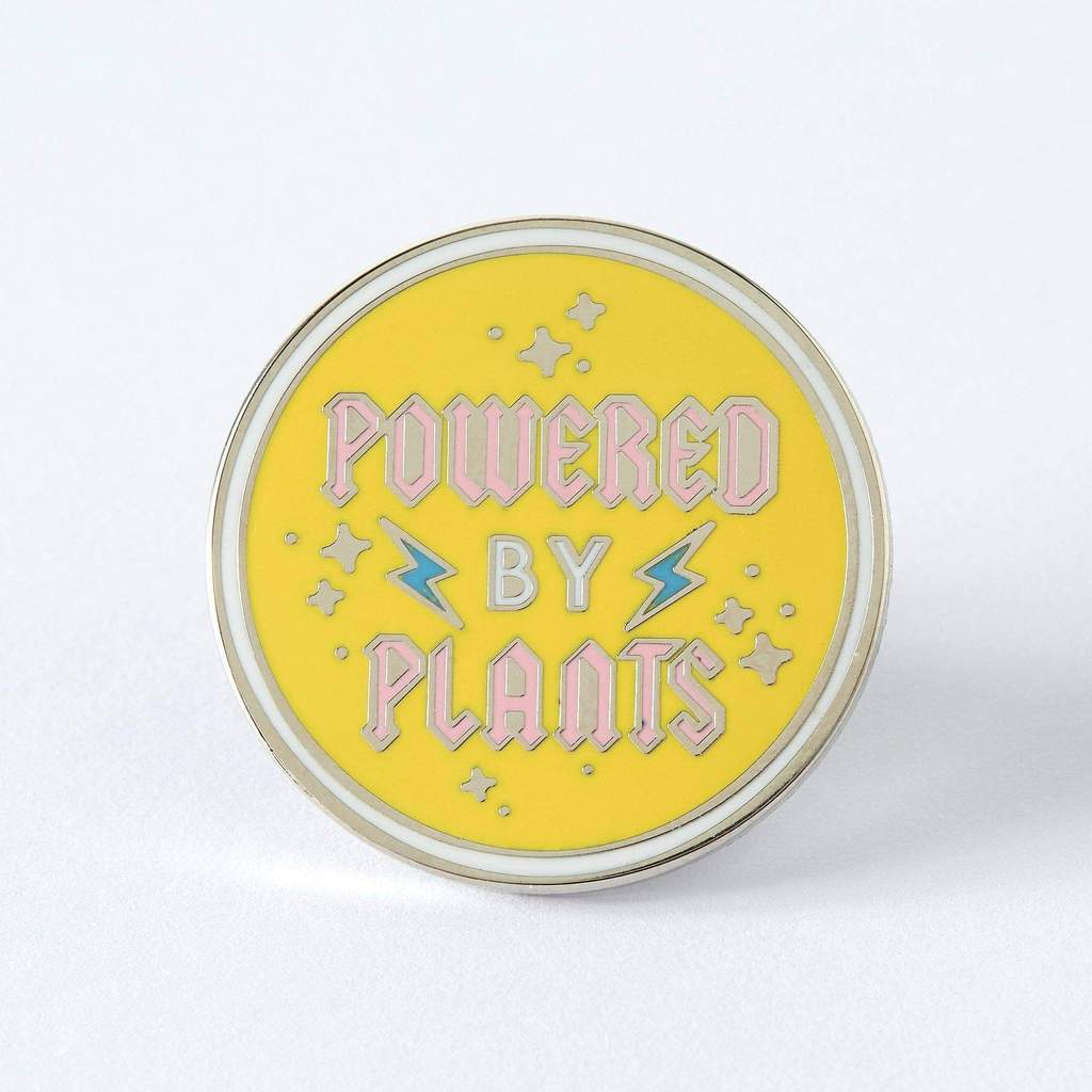 Powered By Plants Enamel Pin