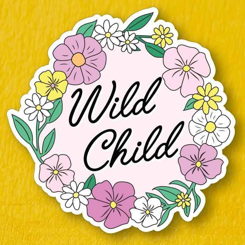 Wild Child Vinyl Sticker