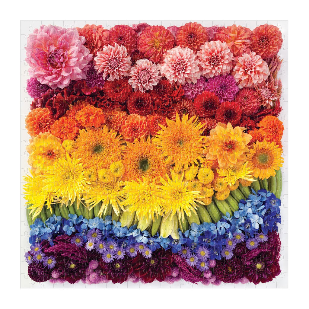 Rainbow Summer Flowers - 500 Piece Puzzle