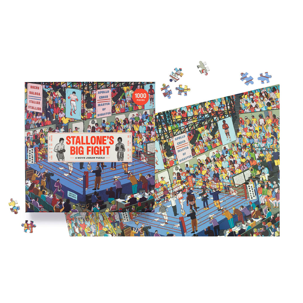Stallone's Big Fight 1000 Piece Puzzle