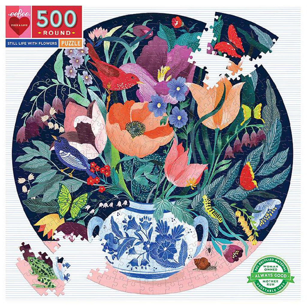 Still Life With Flowers 500 Piece Eeboo Puzzle