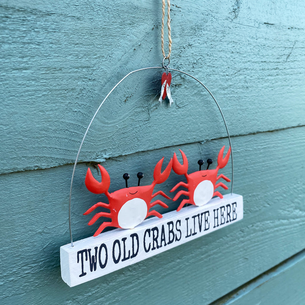 Two Old Crabs Live Here Sign