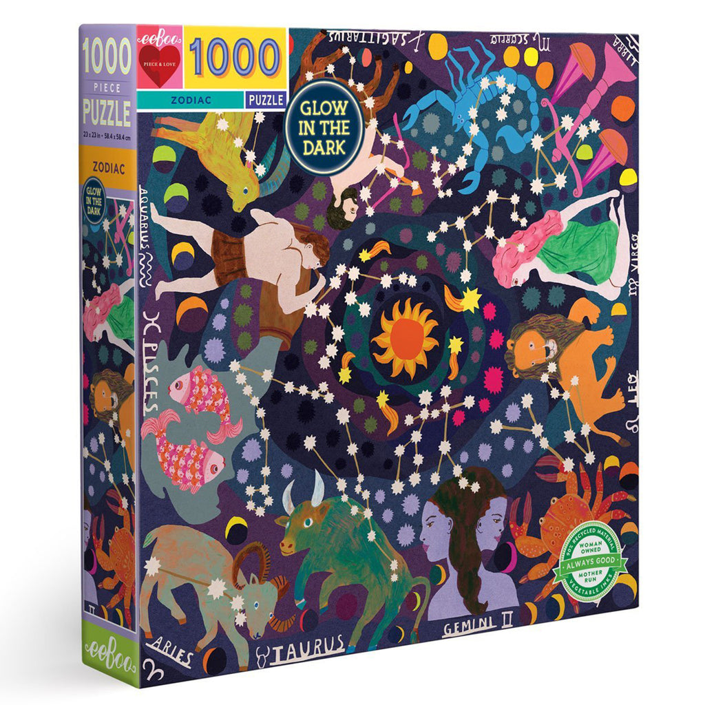 Zodiac Glow In The Dark 1000 Piece Puzzle