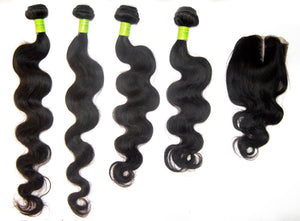 "4 Pack Brazilian hair 12A 14"" - 20"""