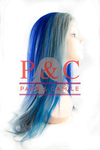 Shades of Blue European Straight Wig