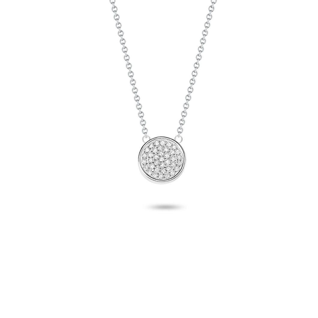Pavé Round Necklace